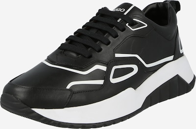 HUGO Baskets basses 'Atom' en noir / blanc, Vue avec produit