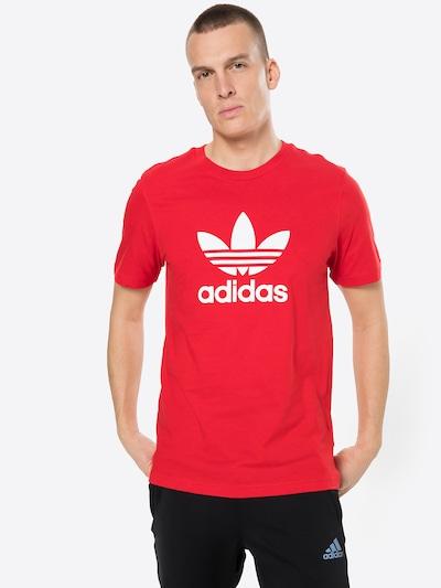 ADIDAS ORIGINALS Shirt in rot / weiß: Frontalansicht