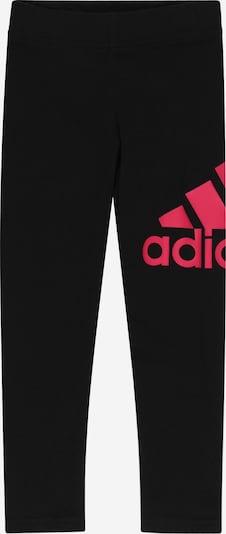 Pantaloni sport ADIDAS PERFORMANCE pe roz neon / negru, Vizualizare produs