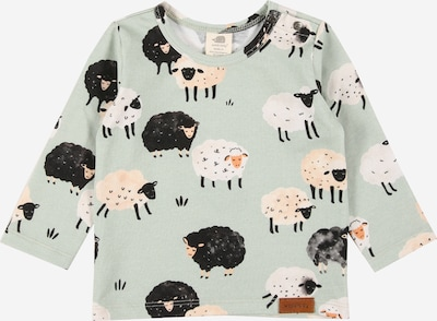 Walkiddy Shirt in mint / pastellorange / schwarz, Produktansicht