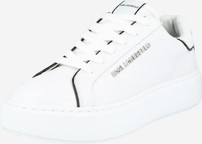 Karl Lagerfeld Zemie brīvā laika apavi 'MAXI KUP', krāsa - melns / balts, Preces skats