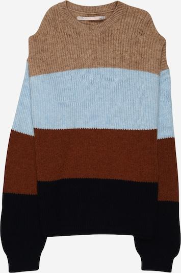 KIDS ONLY Sweter 'Sandy' w kolorze beżowy / jasnoniebieski / brązowym: Widok z przodu