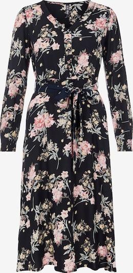 PIECES Kleid 'Paola' in grün / rosé / schwarz, Produktansicht