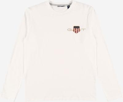 GANT Majica u zlatna / crvena / bijela, Pregled proizvoda