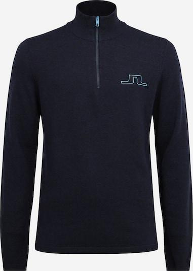 J.Lindeberg Pull-over de sport 'Max' en bleu marine / bleu cyan, Vue avec produit