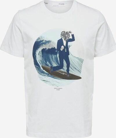kék / fehér SELECTED HOMME Póló, Termék nézet