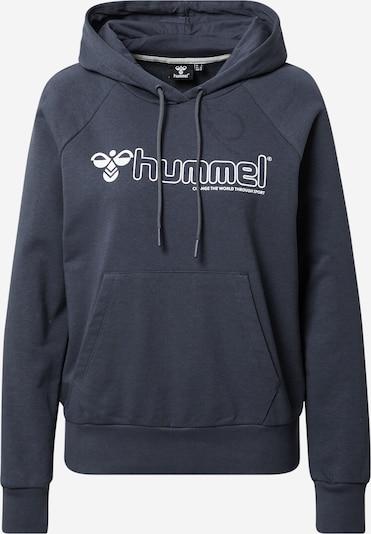 Hummel Sport sweatshirt i marinblå / vit, Produktvy