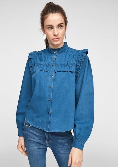 Q/S designed by Blūze, krāsa - tumši zils, Modeļa skats