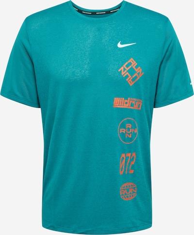 NIKE Tehnička sportska majica 'Miler Wild' u tirkiz / narančasta / bijela, Pregled proizvoda