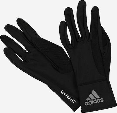 ADIDAS PERFORMANCE Спортни ръкавици в черно / бяло, Преглед на продукта