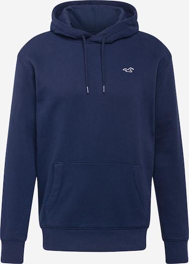 HOLLISTER Sweat-shirt en bleu marine / blanc, Vue avec produit