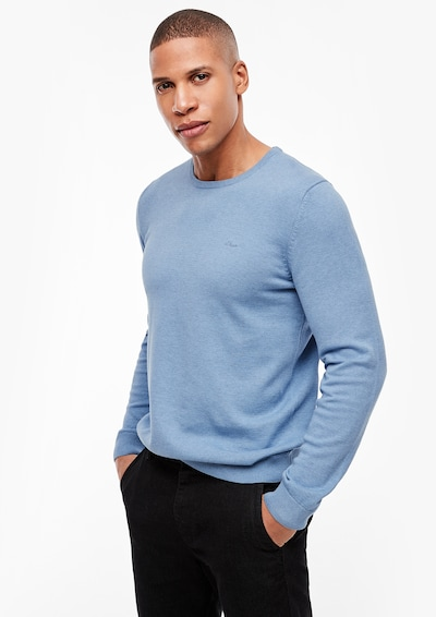 s.Oliver Men Tall Sizes Pullover in hellblau, Produktansicht