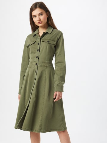 s.Oliver Shirt Dress in Green