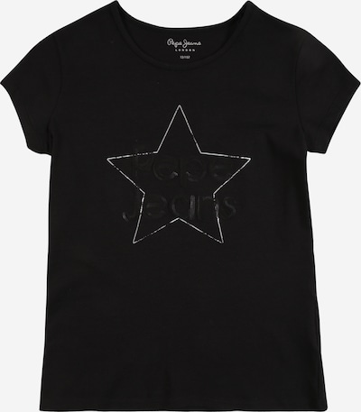 Pepe Jeans Тениска 'Elisabeth' в черно / бяло, Преглед на продукта