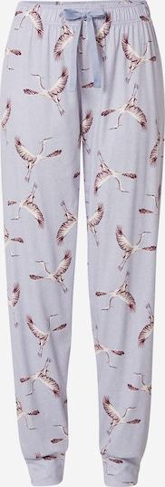 CALIDA Pyjamahose in rauchblau / flieder / beere / weiß, Produktansicht