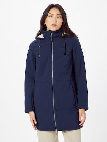 JACK WOLFSKIN Λειτουργικό παλτό 'Windy Valley' σε μπλε