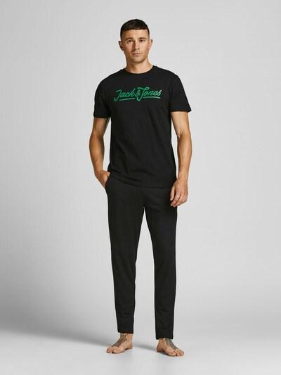 JACK & JONES Pyjama in grün / schwarz, Modelansicht