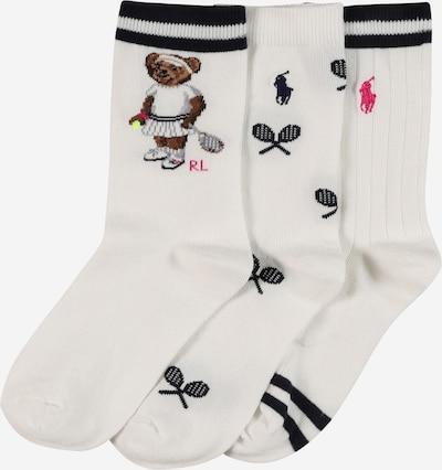 POLO RALPH LAUREN Sokken in de kleur Zwart / Wit, Productweergave