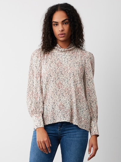 Aligne Bluse 'Ava' in grau / rosa / weiß, Modelansicht