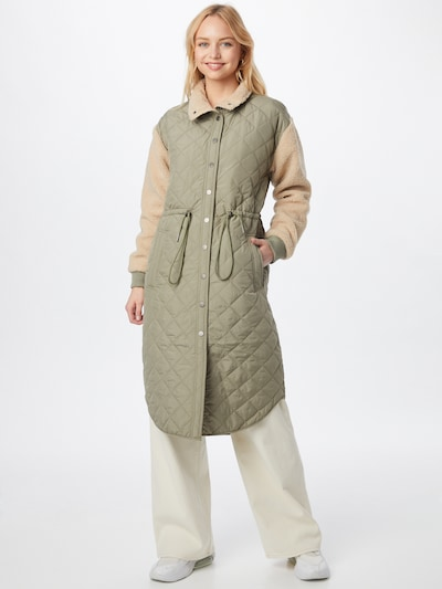 Global Funk Overgangsfrakke 'Marguire' i beige / grøn, Modelvisning