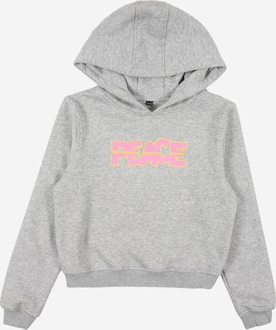 Mister Tee Sweatshirt 'Peace' in gelb / graumeliert / pink, Produktansicht