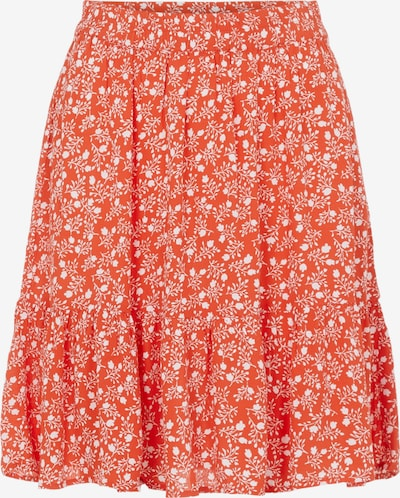 PIECES Skirt 'Rebecca' in Orange red / White, Item view