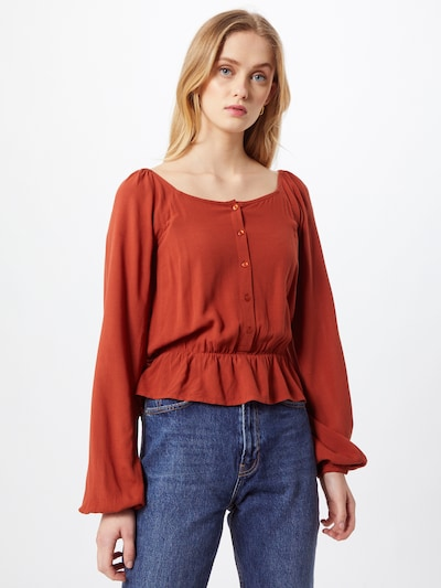 ABOUT YOU Blouse 'Nuria' in Rusty red, View model