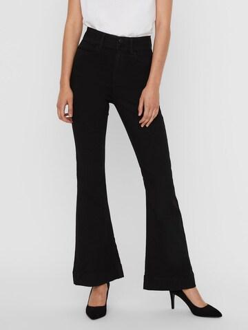 VERO MODA Jeans 'Shiny' in Zwart