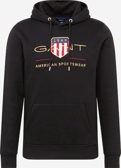 GANT Sweatshirt in goldgelb / rot / schwarz / weiß, Produktansicht