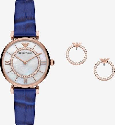 ARMANI Analog Watch in marine blue / Rose gold, Item view