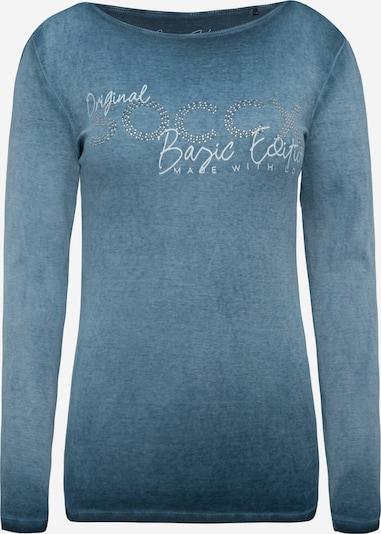 Soccx Rippshirt mit U-Boot-Ausschnitt und Artwork in, Produktansicht