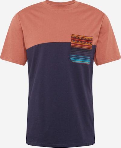 Tricou 'Vintachi' Iriedaily pe navy / turcoaz / pitaya / roșu pastel, Vizualizare produs