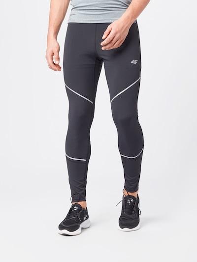 4F Спортен панталон в черно / бяло: Изглед отпред