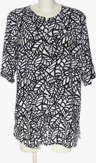 Walbusch Kurzarm-Bluse in XXL in schwarz / weiß, Produktansicht