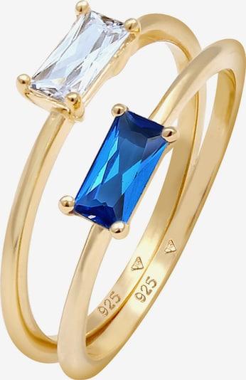 ELLI PREMIUM Bague en bleu / or, Vue avec produit