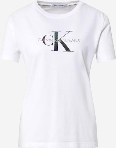 Calvin Klein Jeans T-Krekls debeszils / pelēks / melns / balts, Preces skats