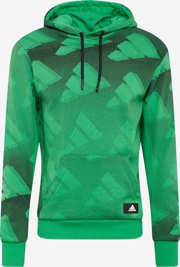 ADIDAS PERFORMANCE Sportsweatshirt in grün / schwarz / weiß, Produktansicht