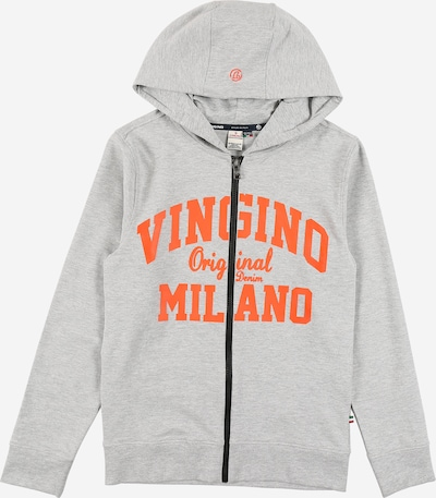 VINGINO Sweatjacke en graumeliert / orange, Vue avec produit