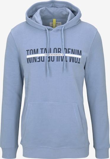 TOM TAILOR DENIM Hoodie in marine / rauchblau / weiß, Produktansicht