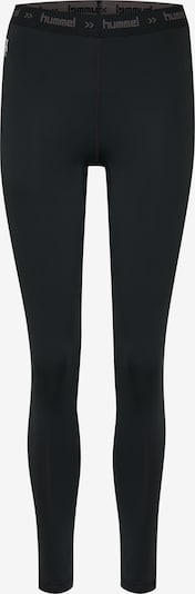 Hummel Tights in grau / schwarz, Produktansicht