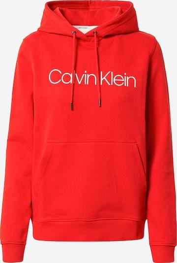 Calvin Klein Суичър в карминено червено / бяло, Преглед на продукта