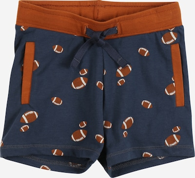 Müsli by GREEN COTTON Shorts in dunkelblau / cognac / weiß, Produktansicht