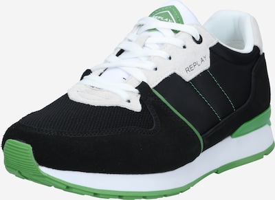 REPLAY Sneaker in grün / schwarz / weiß, Produktansicht
