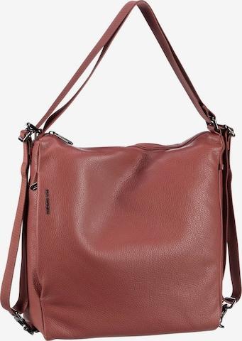 MANDARINA DUCK Handtasche ' Mellow Leather Hobo Backpack FZT72 ' in Rot