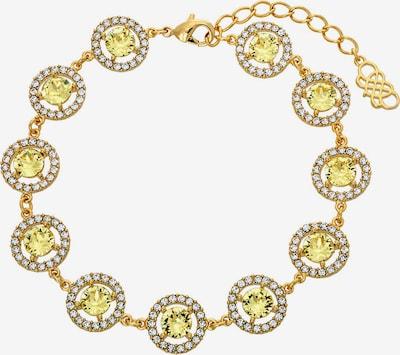 Brățară 'Miranda' LILY AND ROSE pe galben lămâie / auriu / transparent, Vizualizare produs