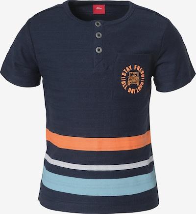 s.Oliver Shirt in navy / hellblau / orange, Produktansicht