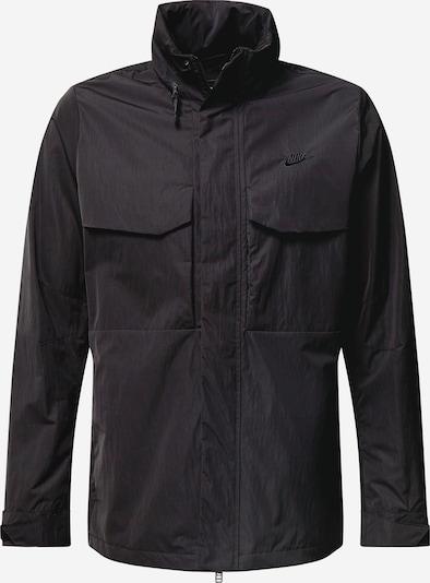 Nike Sportswear Prehodna jakna | črna barva: Frontalni pogled