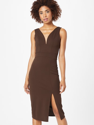 WAL G. Cocktail Dress in Dark brown, View model