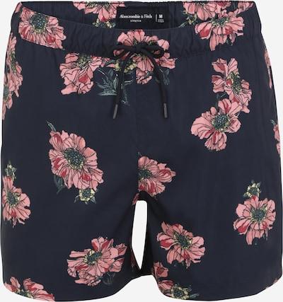Abercrombie & Fitch Shorts de bain en bleu marine / rose / rouge, Vue avec produit