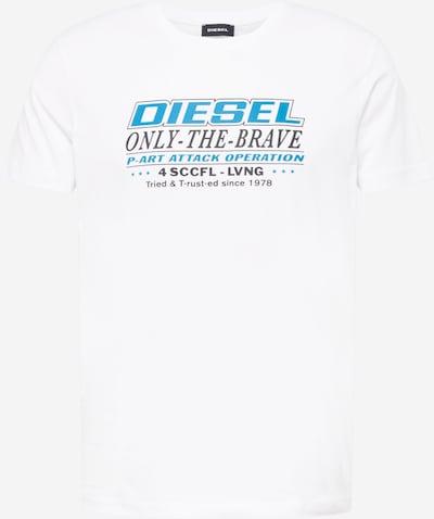 DIESEL T-Shirt 'DIEGOS' in türkis / schwarz / weiß, Produktansicht